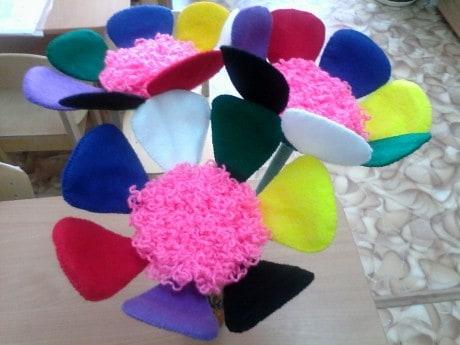Мастер – класс по изготовлению в ДОУ. Пособие для коррекционно-развивающей работы «Цветик – семицветик».