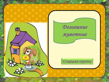 Шаблон презентации по теме: «Домашние животные»