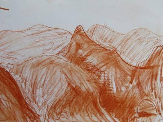 Конспект занятия по рисования «Горы». Старшая группа.