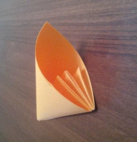 оригами. Изготовить 5 таких деталей.