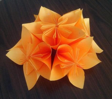 Оригами. Мастер-класс «Изготовление крашения методом оригами».