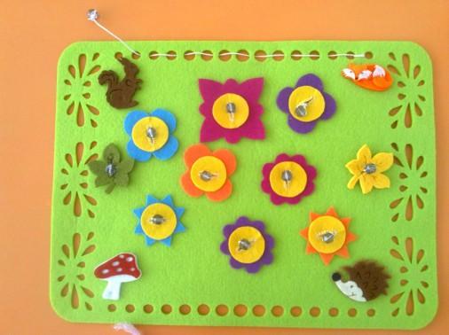 Новые дидактические игры и игровые упражнения, пособие для детей 3-4 лет «Цветочная полянка».