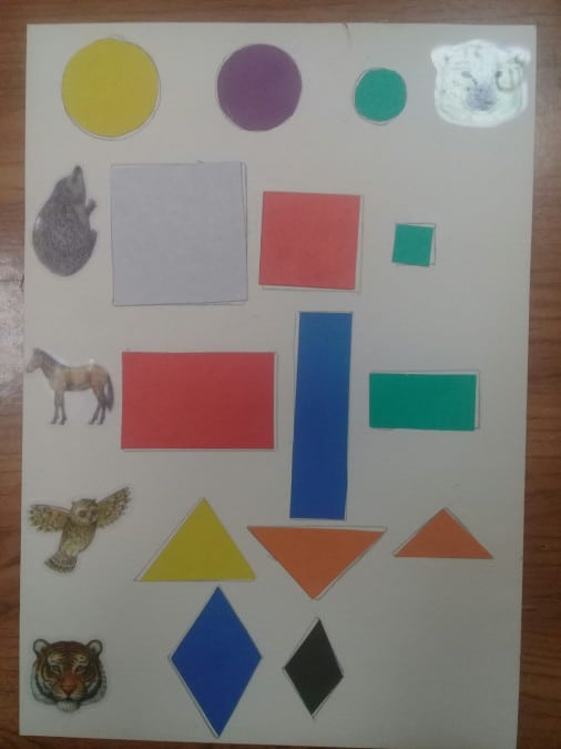 Конспект занятия «Геометрические фигуры» для ребенка с синдромом Дауна