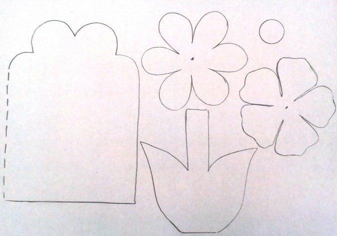 """Конспект занятия на 8 марта  для младших дошкольников """"Открытка к празднику 8 марта"""""""