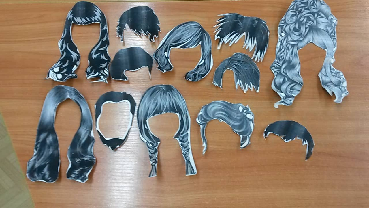 Вспомогательный материал для НОД – силуэты причёсок